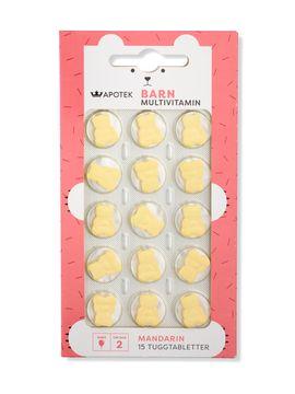 Kronans Apotek Multivitamin Mandarin Barn Tuggtablett, 15 st