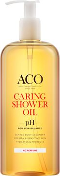 ACO Caring Shower Oil Duscholja, oparfymerad, 400 ml