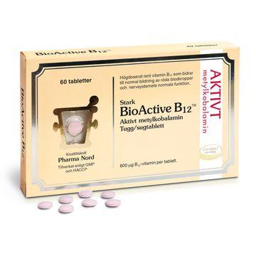 Pharma Nord BioActive B12 Tugg/sug tabletter, 60 st