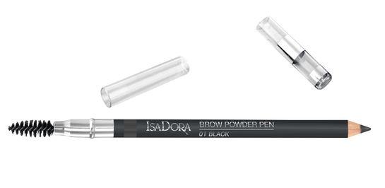 Isadora Brow Powder Pen 01 Black, Ögonbrynspenna