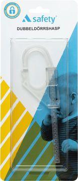 A-safety Dubbeldörrhasp tranparent 1 st