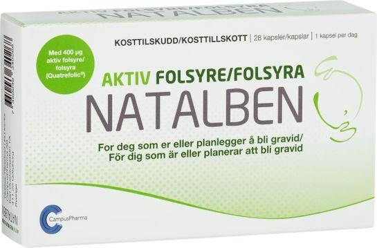 Natalben Aktiv Folsyra Folsyratillskott Gravid 28 st