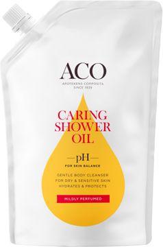 ACO Caring Shower Oil Refill Duscholja, parfymerad, 400 ml
