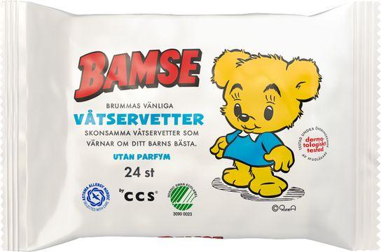 Bamse Brummas Härliga Våtservetter Våtservett, 24 st