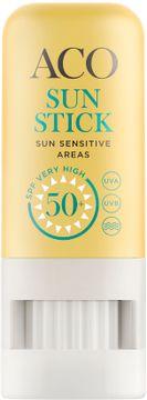 ACO Sun Stick SPF 50+ Solskydd för utsatta områden. 8 g