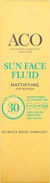 ACO Sun Face Fluid SPF 30 Solskydd, 40 ml