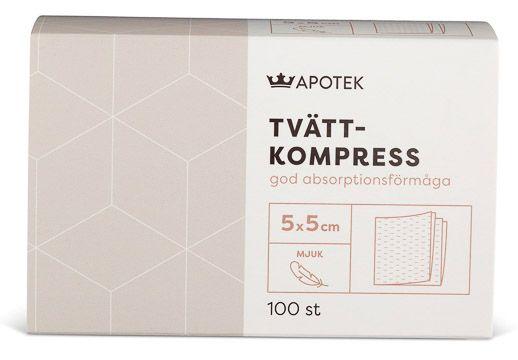 Kronans Apotek Tvättkompress Mjuk kompress 5 x 5 cm, 100 st