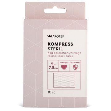 Kronans Apotek Kompress Steril kompress 5 x 7,5 cm, 10 st