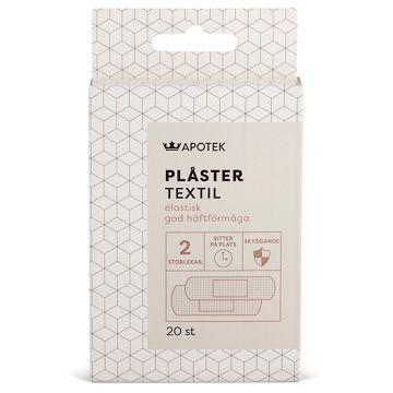 Kronans Apotek Plåster Textil Elastiskt Plåster, 20 st