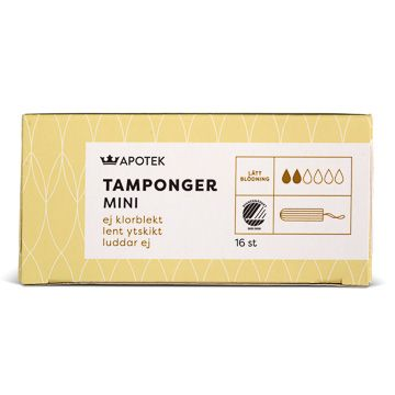 Kronans Apotek Tamponger Mini Tampong, 16 st