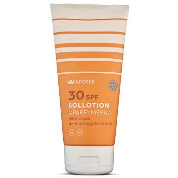 Kronans Apotek Sollotion SPF 30 Solskydd Oparfymerad, 200 ml