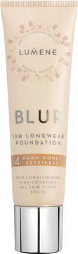 Lumene Blur 16h Longwear Foundation. 4 Warm Honey. 30 ml.