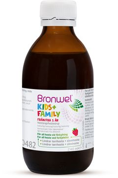 Bronwel Kids+Family Hostmedicin, 240 ml