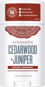 Schmidt's Deo Stick Cedarwood & Juniper Deodorant. 75 g