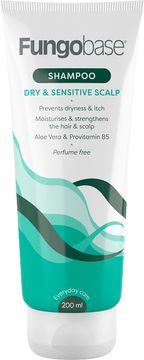 Fungobase Dry & Sensitive Scalp Shampoo Shampo, oparfymerad, 200 ml