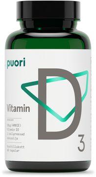 Puori D-vitamin Kosttillskott. 400 IE. 60 st