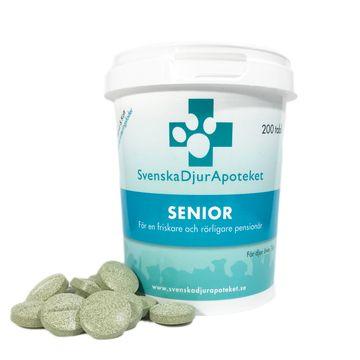 Svenska DjurApoteket Senior Fodertillskott. 200 tabletter
