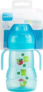 MAM Trainer 220 ml. Flaska med drickpip. Blå. 1 st.