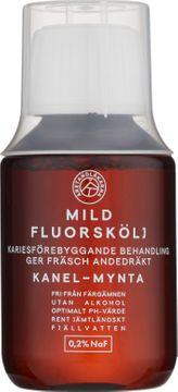 Åretandläkarna Mild fluorskölj Fluorskölj med smak av kanel och mynta. 100 ml