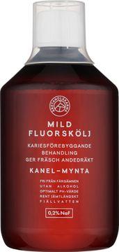 Åretandläkarna Mild fluorskölj Fluorskölj med smak av kanel och mynta. 500 ml