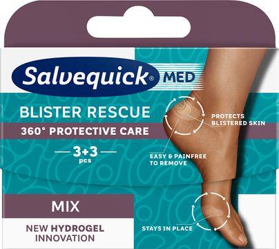 SalvequickMED Blister Rescue Extreme XL Plåster, 4 st
