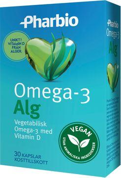 Pharbio Omega 3 Alg Vegitabilisk, tablett, 30 st