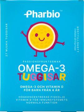 Pharbio Omega-3 Tuggisar Tuggtablett, 27 st