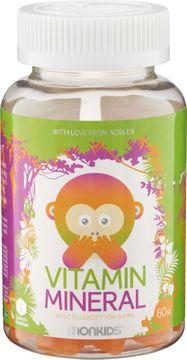 Monkids Vitamin Mineral Kosttillskott för barn. 60 st