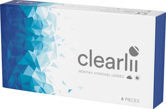 Clearlii Monthly Hydrogel -2.50 Månadslins, 6 st