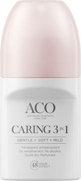 ACO Deo Caring 3 In 1 Antiperspirant, parfymerad, 50 ml