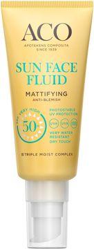 ACO Sun Face Fluid SPF 50+ Solskydd, 40 ml