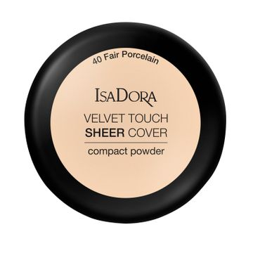 Isadora Velvet Touch Sheer Cover Compact Powder 40 Fair Porcelain, Puder