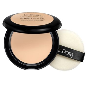 Isadora Velvet Touch Sheer Cover Compact Powder 41 Neutral Ivory, Puder