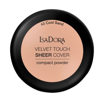 Isadora Velvet Touch Sheer Cover Compact Powder 43 Cool Sand, Puder