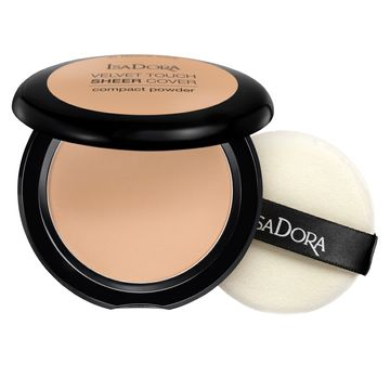 Isadora Velvet Touch Sheer Cover Compact Powder 44 Warm Sand, Puder