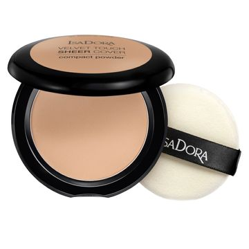 Isadora Velvet Touch Sheer Cover Compact Powder 45 Neutral Beige, Puder