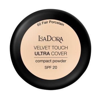 Isadora Velvet Touch Ultra Cover Compact Powder 60 Fair Porcelain, Puder