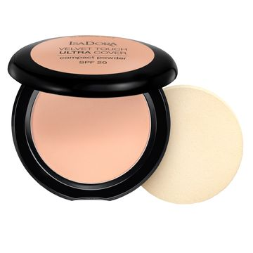 Isadora Velvet Touch Ultra Cover Compact Powder 63 Cool Sand, Puder