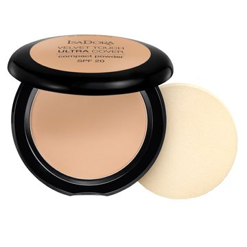 Isadora Velvet Touch Ultra Cover Compact Powder 64 Warm Sand, Puder