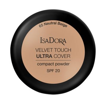 Isadora Velvet Touch Ultra Cover Compact Powder 65 Neutral Beige, Puder