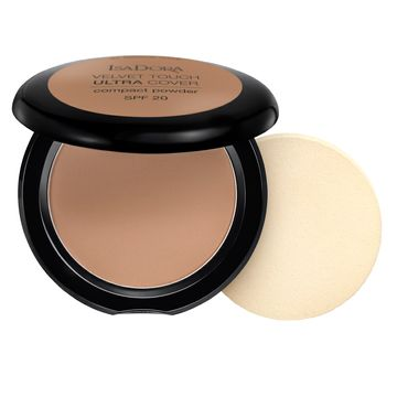 Isadora Velvet Touch Ultra Cover Compact Powder 68 Neutral Almond, Puder