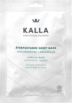 Kronans Apotek KALLA Sheet Mask Återfuktande ansiktsmask. 1 st