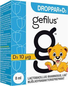 Gefilus D-droppar Mjölksyrabakteriepreparat, 8 ml