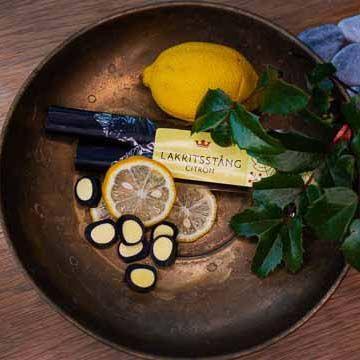 Kronans Apotek Laktritstång Citron Godis, 90 g