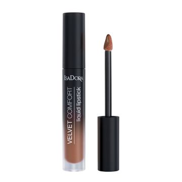 Isadora Velvet Comfort Liquid Lipstick Cool Brown