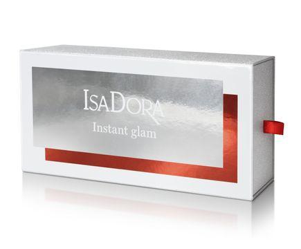 Isadora Instant Glam Mascara, eyeliner, läppglans, sminkväska