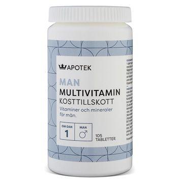 Kronans Apotek Multivitamin Man 105 tabletter