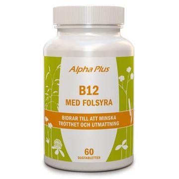 Alpha Plus B12 med Folsyra 60 Sugtabletter