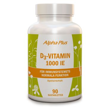 Alpha Plus D3 Vitamin 1000 90 Tabletter
