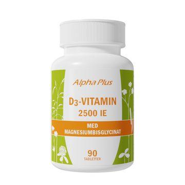 Alpha Plus D3 vitamin 2500 IE 90 Tabletter